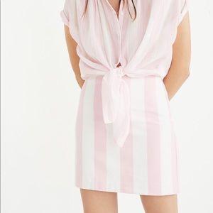 Madewell NWT Gamine Skirt in Cara Stripe